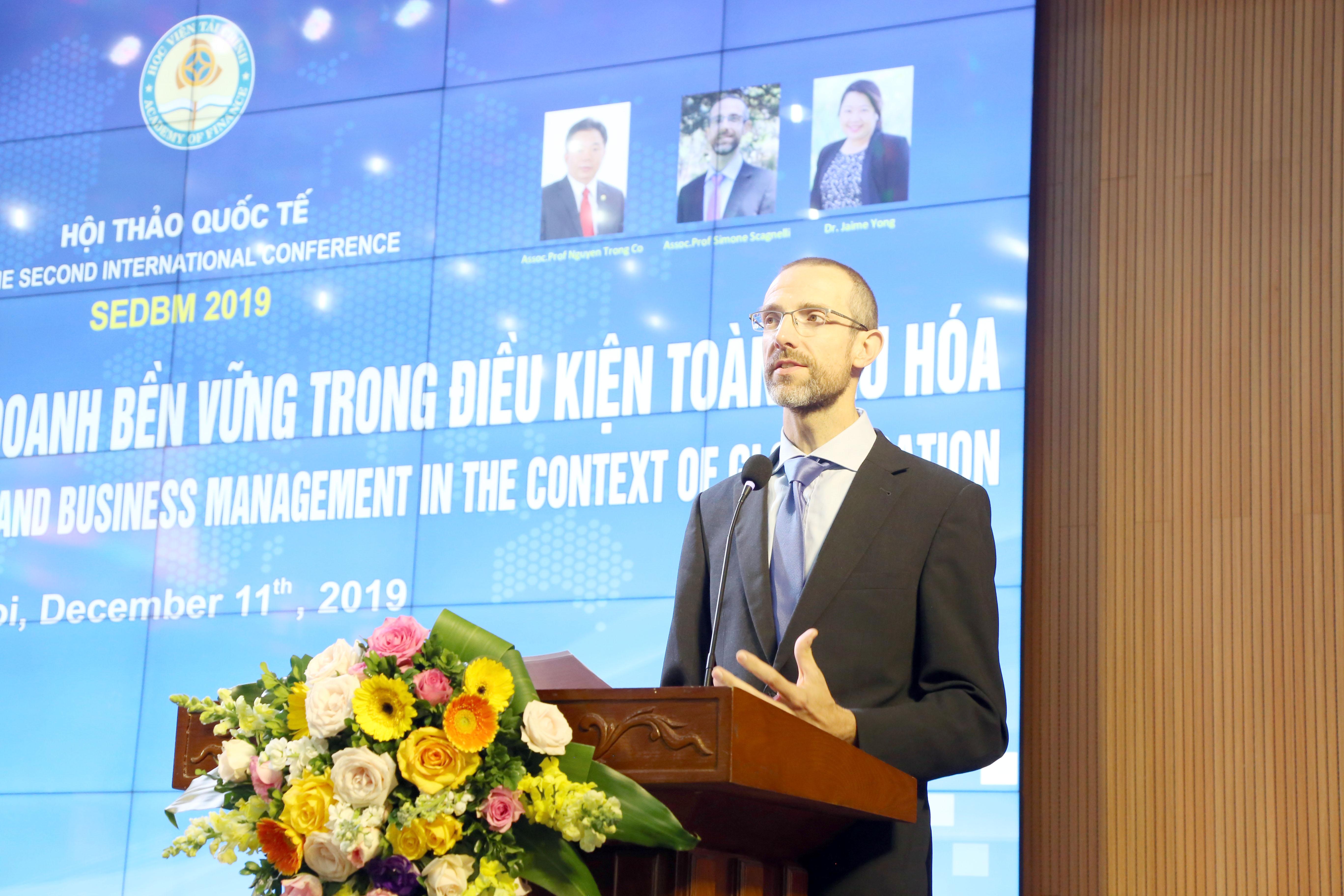 """Hội thảo quốc tế: """"Phát triển kinh tế và Kinh doanh bền vững trong điều kiện toàn cầu hóa"""" (SEDBM) 2019"""