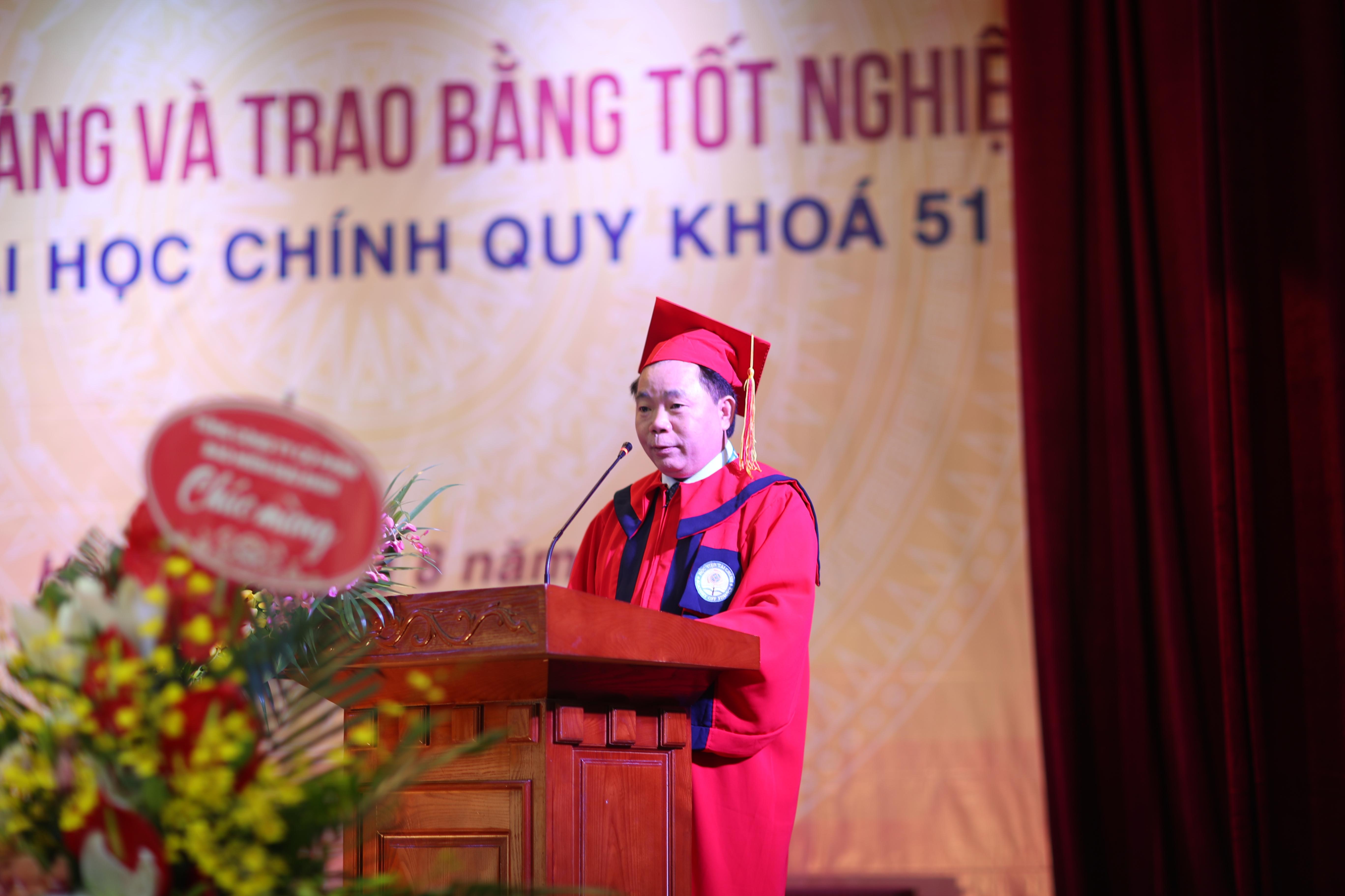 Bài phát biểu của Giám đốc Học viện tại Lễ bế giảng sinh viên khóa 51