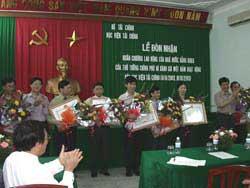 Lễ đón nhận Huân chương Lao động 2003